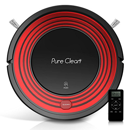 Automatic Programmable Robot Vacuum Cleaner - Dust Filter Pet Hair and Allergies Friendly - Auto Home Clean Carpet Hardwood Floor with Self Activation and Charge Dock