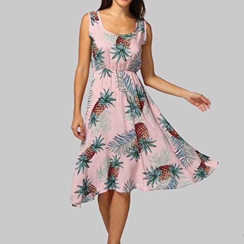 Haoricu-robe Robe De Soirée Mode De Rose Des Femmes