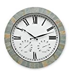 Wind & Weather CK6507 Roman Numeral Style Slate Weather Clock