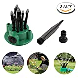 HTF Flexible Lawn & Garden Sprinkler | Lawn Sprinkler Controller for Garden, Adjustable Irrigation Spray System, Pack of 2