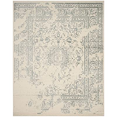 """Safavieh Adirondack Collection ADR101A Silver and Black Oriental Vintage Distressed Area Rug (5'1"""" x 7'6"""")"""