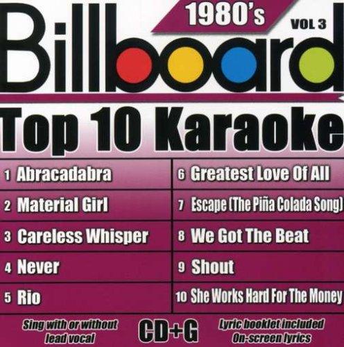Billboard Top-10 Karaoke - 1980's Vol. 3 (10+10-song CD+G)