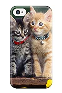 Defender Case For Iphone 4/4s, Cats With Collars Pattern
