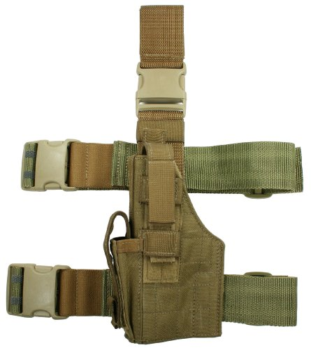 UPC 845701011425, Specter Gear Tactical Thigh Holster fits Smith and Wesson SW9 and SW40 Series Handgun, Coyote, Left Hand