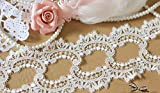 Lace Crafts - 4cm Width (5yards/lot) Off White Embroiderd Venise Lace Trim Sewing DIY Craft Wedding Bridal and Garment Decoration