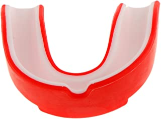 Protège-dents Boxe Adulte Protège Dents en Silicone de Sports, Rugby, MMA, Kickboxing, Muay Thaï Muay Thaï - Rouge 5.5*3.5cm Generic