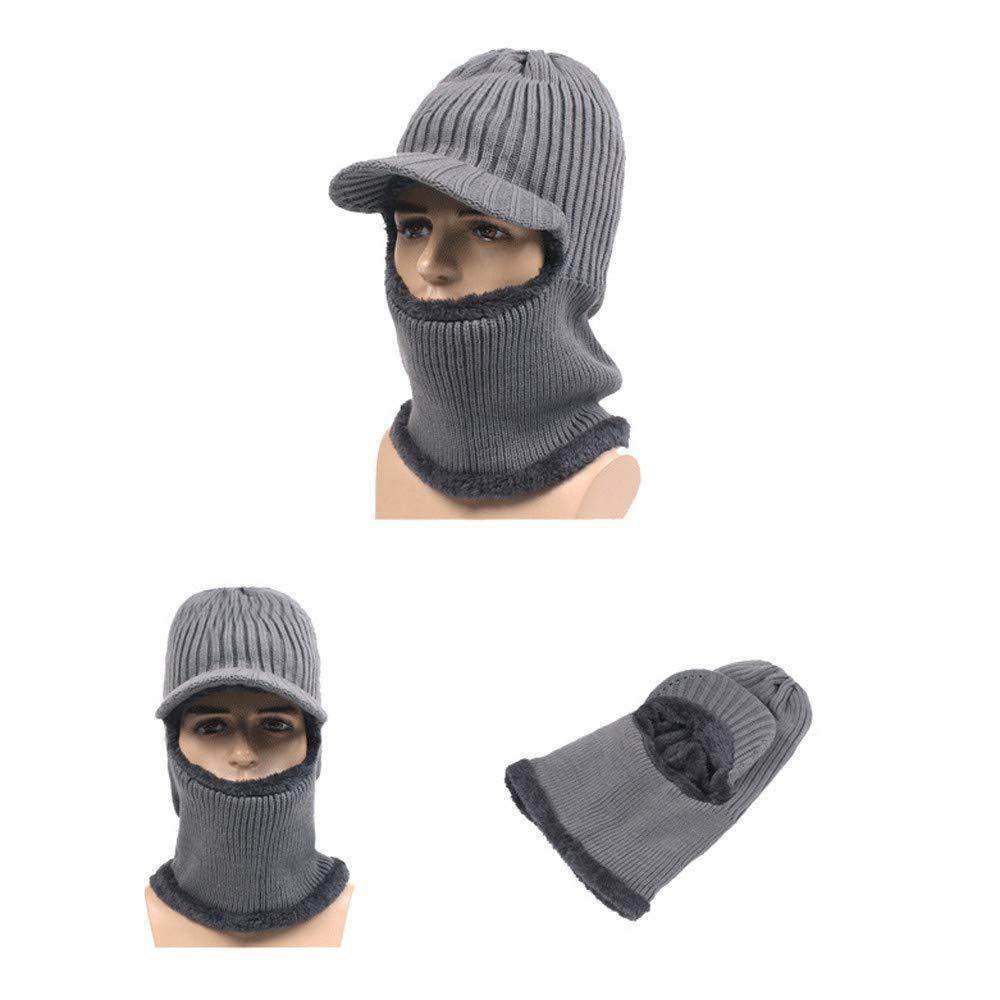AmyGline 2 In 1 Winter Warme Mütze Radfahren Ski Wasserdicht Winddicht Gesichtsmaske Hut Lätzchen Schal