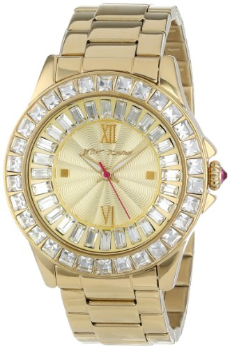 Betsey Johnson Women's BJ00004-16 Crystal Bezel Bracelet Watch Gold/White (Betsey Johnson Watch Bracelet)