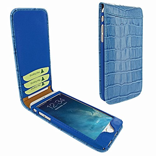 Piel Frama 689 Blue Crocodile Magnetic Leather Case for Apple iPhone 6 Plus / 6S Plus by Piel Frama