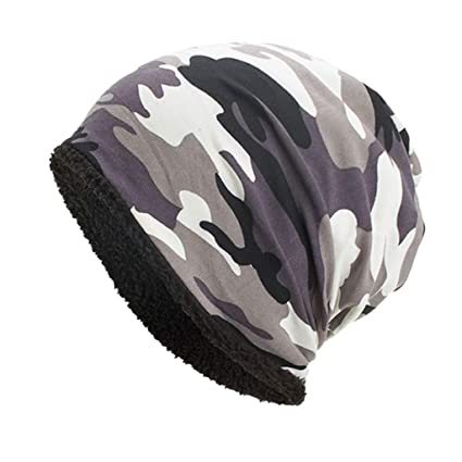 0e464db9a83 Image Unavailable. Image not available for. Color  🍎PIKAqiu33🍎 Mens  Womens Ladies Camo Camouflage Beanie Hat Woolly Knit Skater Ski Winter Warm