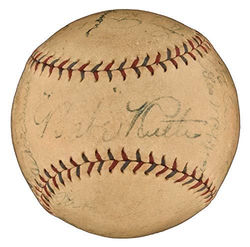 1927 NY Yankees WS Champs Team Signed Baseball Babe for sale  Delivered anywhere in USA