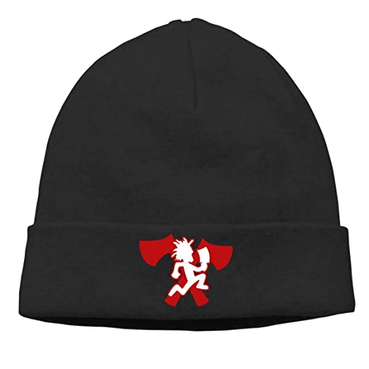 67cfc2c8ce1 Image Unavailable. Image not available for. Color  MUtang Ogbcom Hatchetman  ICP Logo Skull Hats Knitted Cap Beanie Black