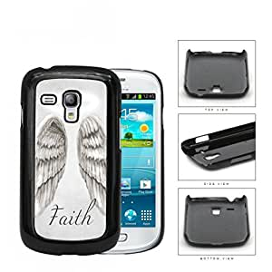 Faith Angel Wings With Halo Ring Hard Plastic Snap On Cell Phone Case Samsung Galaxy S3 SIII Mini I8200