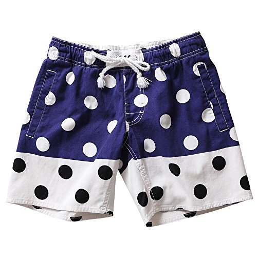 Swim Trunks Shorts Mens Dot Design SAFS Navy 35