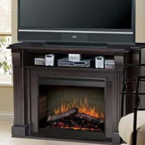 langley 55 tv stand with electric fireplace home kitchen. Black Bedroom Furniture Sets. Home Design Ideas