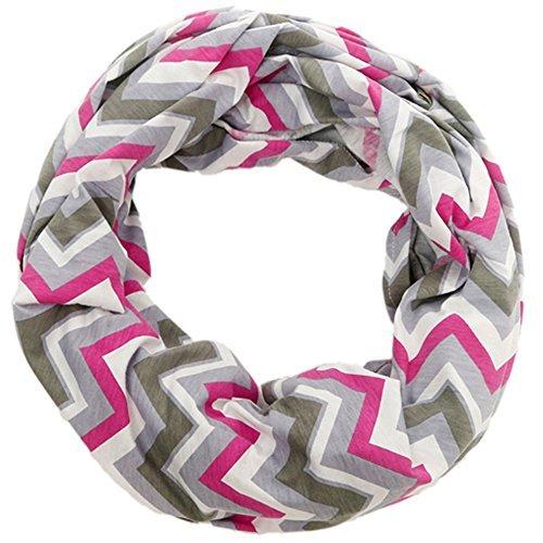 Warmhol Nursing Happens Infinity Breastfeeding Scarf Nursing Covers Grey Chevron (Pink and Grey Chevron)