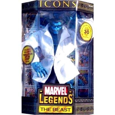Marvel Legends Icons Series 3 The Beast Variant Blue Beast with Lab Coat - Marvel Legends Icon Series