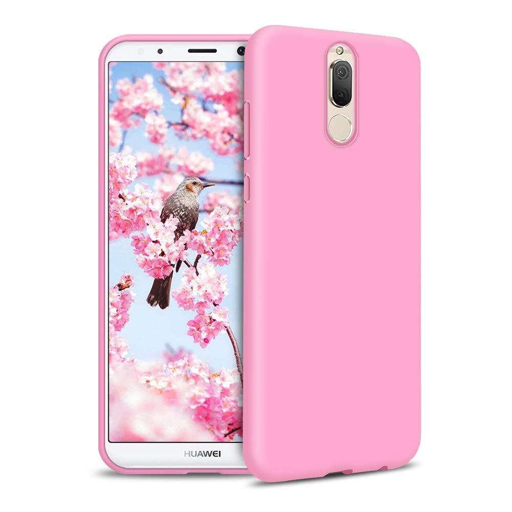 Rosa Funda para Huawei Mate 10 Lite Carcasa Silicona Huawei Mate 10 Lite Silicona Gel TPU Case Goma Colores del Caramelo Anti-Rasgu/ño Resistente Ultra Suave Protectora Caso