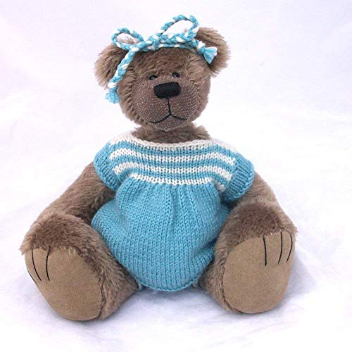 Alice- Teddy Bear Grey Mohair Artist Collectable OOAK 10 inches