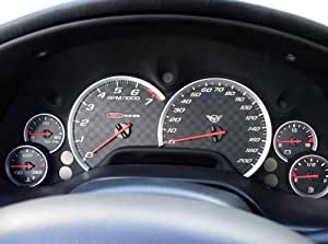 VMS Racing Matte Silver Gauge Bezels Rings Trim for Chevrolet Chevy Corvette Vette C5 2000 2001 2002 2003 2004 00 01 02 03 04 Best Quality Look! (NOT Generic)