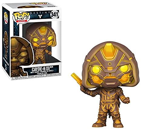 3ba8cd8e0cc Amazon.com  Pop Funko Destiny Cayde-6 with Golden Gun Exclusive Vinyl Figure   Toys   Games