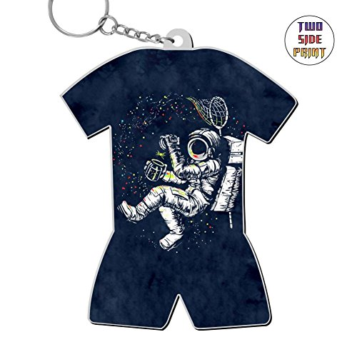 Neopolitan One Light - Zinc Alloy Home Key Chain,Print Astronaut,Best Gift For Friends Boys Girls