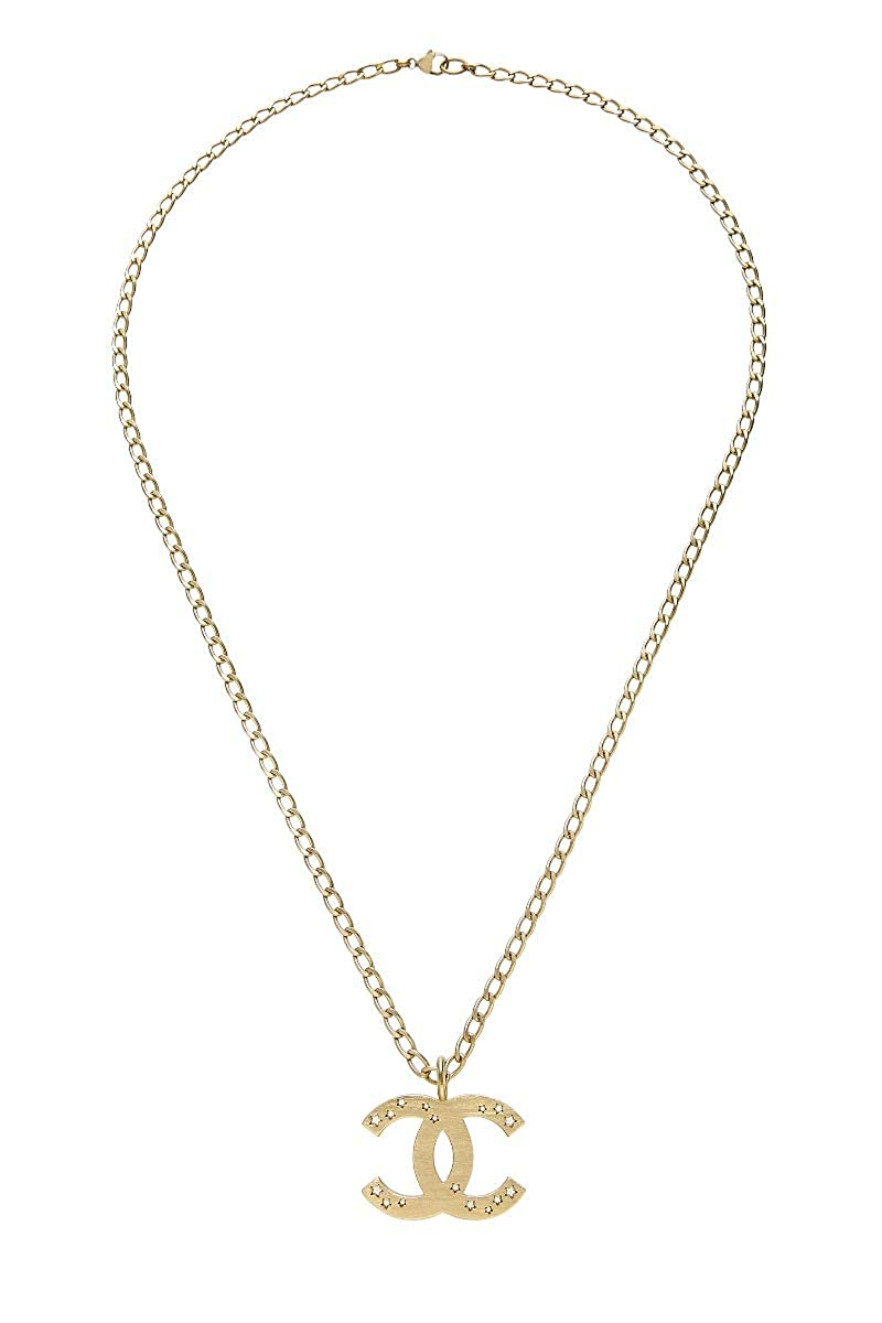 69d54c208f Amazon.com: CHANEL Gold 'CC' Star Necklace (Pre-Owned): Jewelry