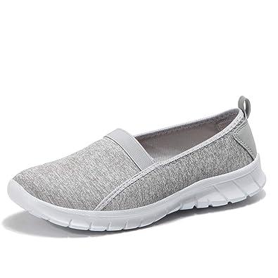 f4b34ceee2f34 ZYEN Women's Comfortable Nursing Shoes All White Leather Nurses Slip On  Work Medical Loafers (8 M US, 76950 White)