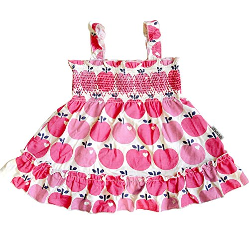 Silkberry Baby Bamboo Baby-Girls Smocked Sundress Apple 18m-2T