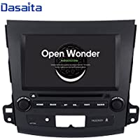 Dasaita Android 8.0 Double Din Head Unit for Mitsubishi Outlander Car Stereo with Factory Rockford Fosgate System 2006 to 2011 GPS Navigation Radio 8 Inch Head Unit