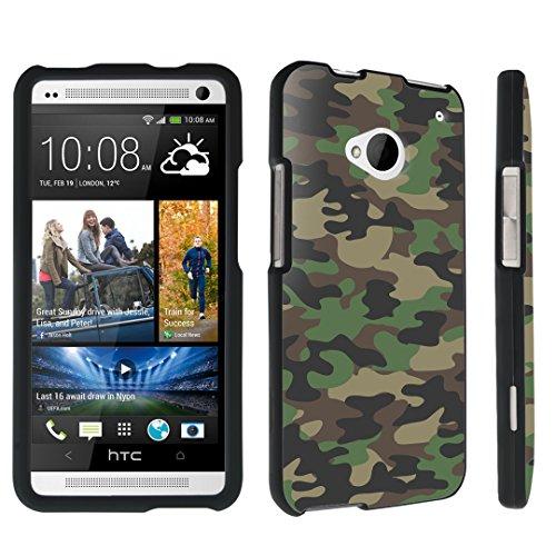 DuroCase ® HTC One M7 Hard Case Black - (Brown Camo)