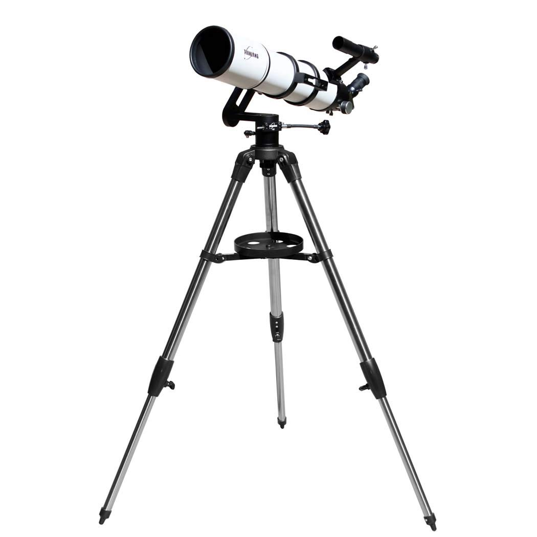TJ2-HS102DS 360 Degree Rotation, Telescope Refracting Telescope Adjustable Portable Travel Telescopes for Astronomy, Multi-Layer Green Film by GGPUS