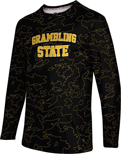 ProSphere Winona State University Mens Long Sleeve Tee Topography