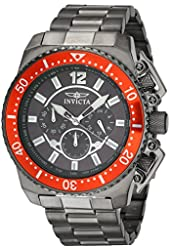 Invicta Men's Pro Diver Gun Metal Steel Bracelet & Case Quartz Analog Watch 21957
