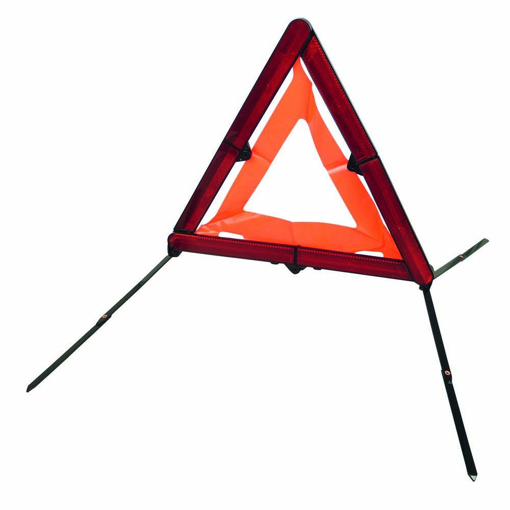 CARPOINT CPT0113908 Nano-Triangolo di Segnalazione, in plastica Rigida con Motivo EAN Code, Colore: Rosso