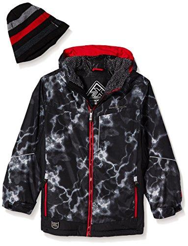 ZeroXposur Big Boys' Victor Snowboard Jacket, Black/Red, X Large