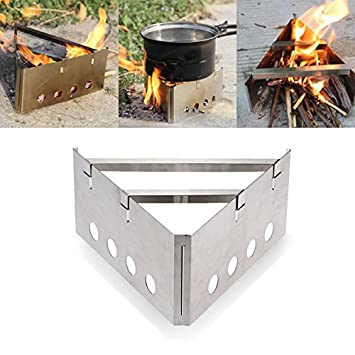 Lovinn Estufa de Cocina, al Aire Libre, Camping, triángulo, Madera, Estufa