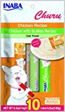 #4: INABA Churu Chicken Lickable Creamy Puree Cat Treats Variety Bag 10 Tubes