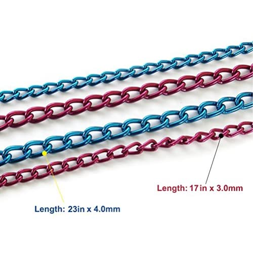 SGODA Dog Training Choke Chain Collar Blue and Pink high-quality