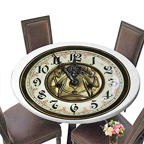 PINAFORE Simple Modern Round Table Old Clock for Daily use, Wedding, Restaurant 31.5
