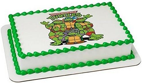 Excellent Teenage Mutant Ninja Turtles Birthday Edible Cake Cupcake Topper Personalised Birthday Cards Petedlily Jamesorg