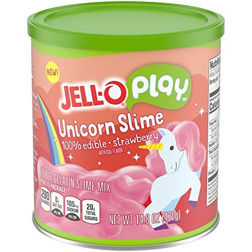 JELLO Strawberry Unicorn Slime (14.8oz Cans, Pack of 2) by Jell-O Play (Image #4)