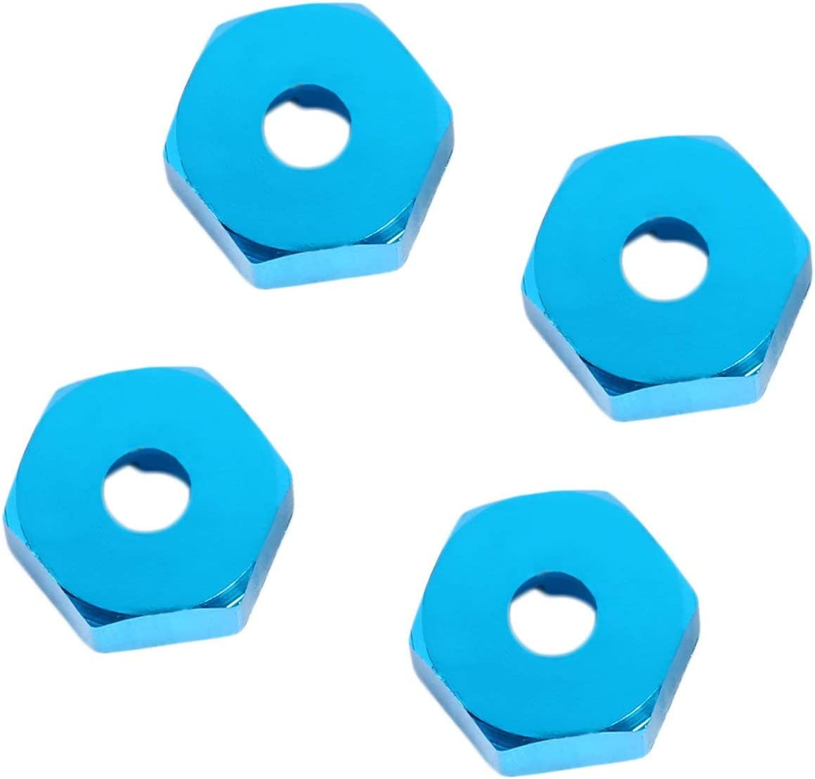 4Pcs Professional 12mm Wheel Hex Hub Adapter Thick with Pins For Rc Car Slash Upgraded Hop-Up Parts 12mm Wheel Hex Blue Jasnyfall