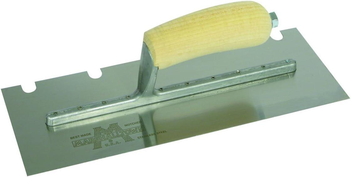 Marshalltown 5783SD Notched Trowel 1//4 x 3//8 x 1 1//4-Inch U-Durasoft Handle
