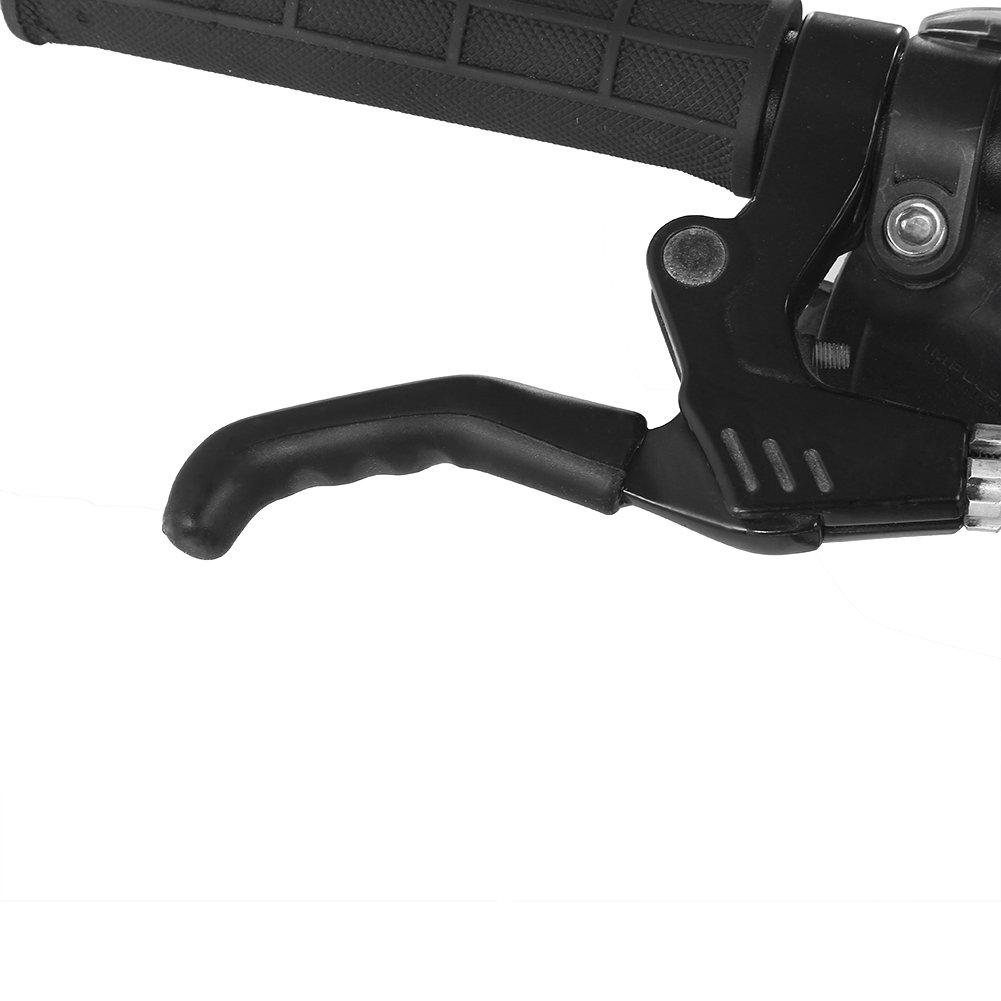 Leva di frenata della bicicletta Manicotto antisdrucciolevole del manicotto del freno Copertura di protezione per lattrezzatura fissa della bici di montagna Colore : Nero