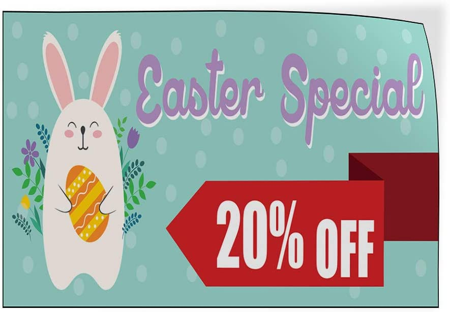 Custom Door Decals Vinyl Stickers Multiple Sizes Easter Special Percentage Off Holidays and Occasions Easter Special Outdoor Luggage /& Bumper Stickers for Cars Blue 34X22Inches Set of 10