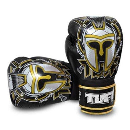 Gladiator Boxing Glove (Tuff Muaythai Boxing Training Gloves Gladiator Black Leather Free Express Ship (16OZ))