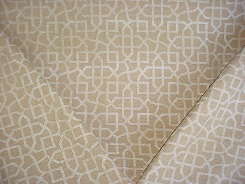 P Kaufmann / Braemore / Waverly Zinnia in Champagne - Celtic Knot / Scroll Chenille Designer Upholstery Drapery Fabric - By the - Champagne Chenille