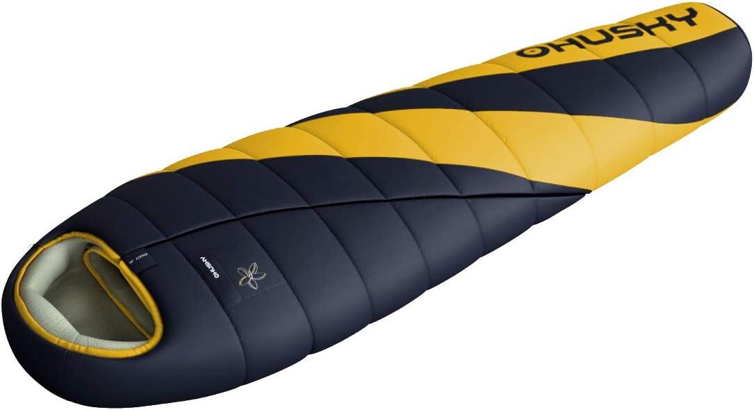 Husky Motion シュラフ マミー型 防水 冬用 寝袋 シュラフ キャンプ 丸洗い 左開き