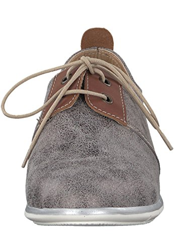 cuo Women's Pewter Met Flats up Tamaris Grey Lace 7A6Hqww0